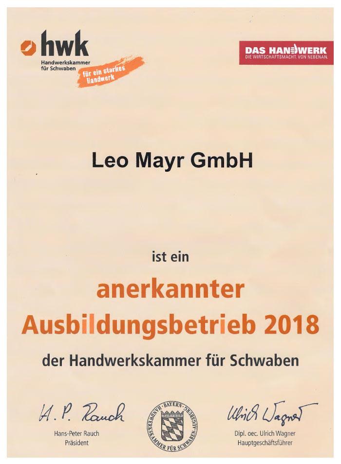 Leo Mayr Ausbildungsbetrieb